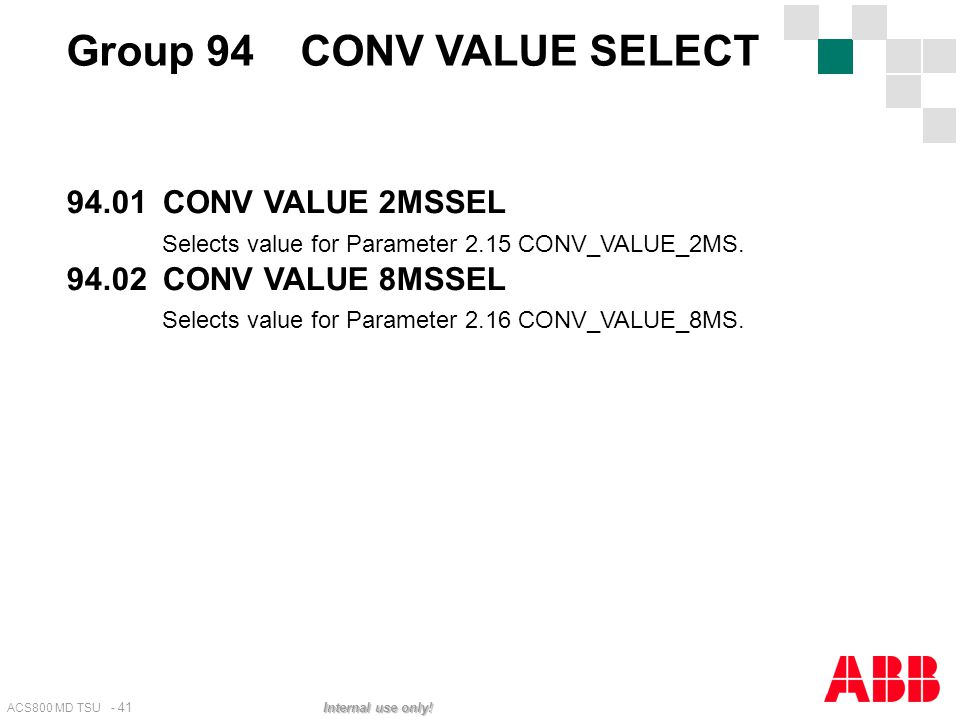 Group 94 CONV VALUE SELECT