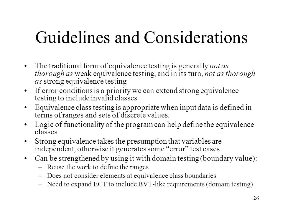 Guidelines and Considerations