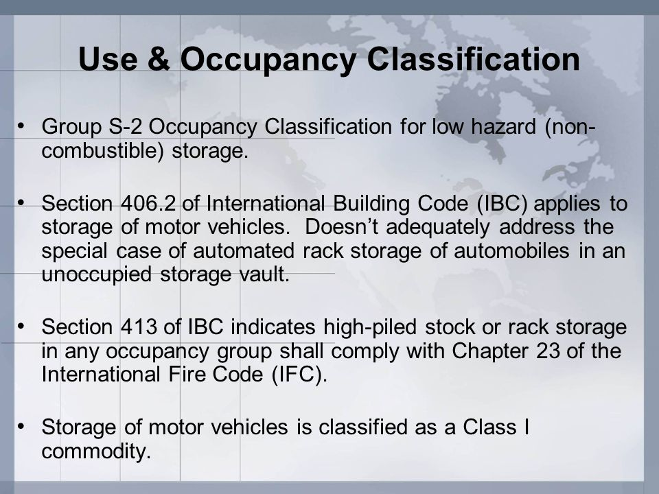 Use & Occupancy Classification