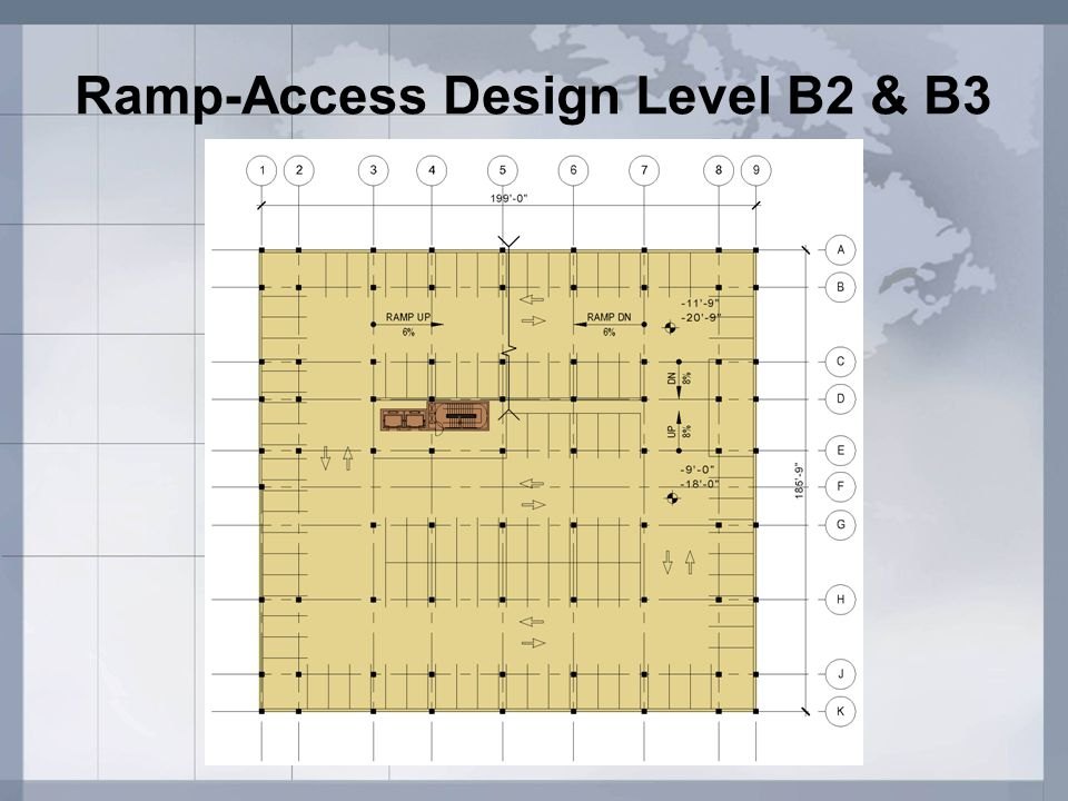 Ramp-Access Design Level B2 & B3