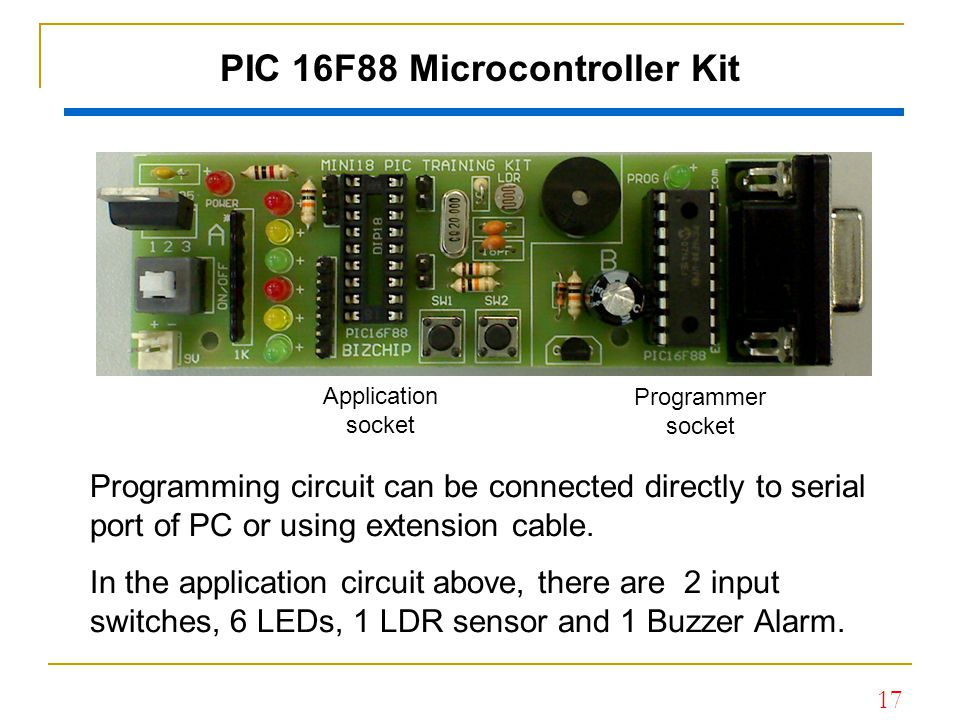 PIC 16F88 Microcontroller Kit