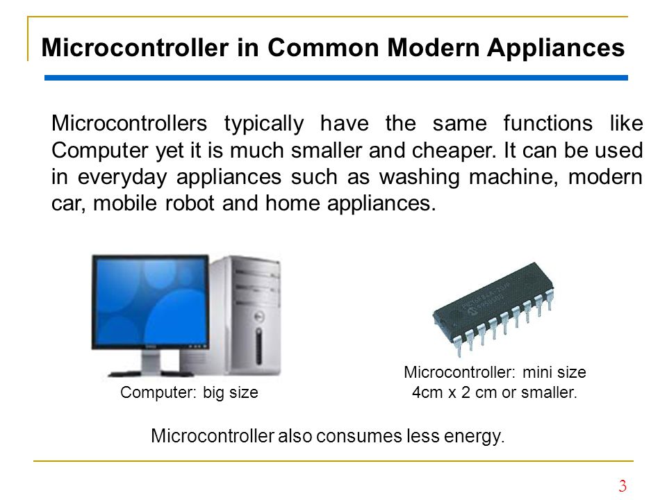 Microcontroller in Common Modern Appliances