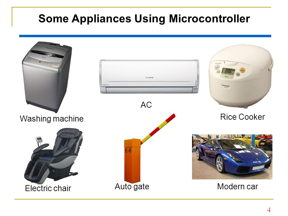 Some Appliances Using Microcontroller