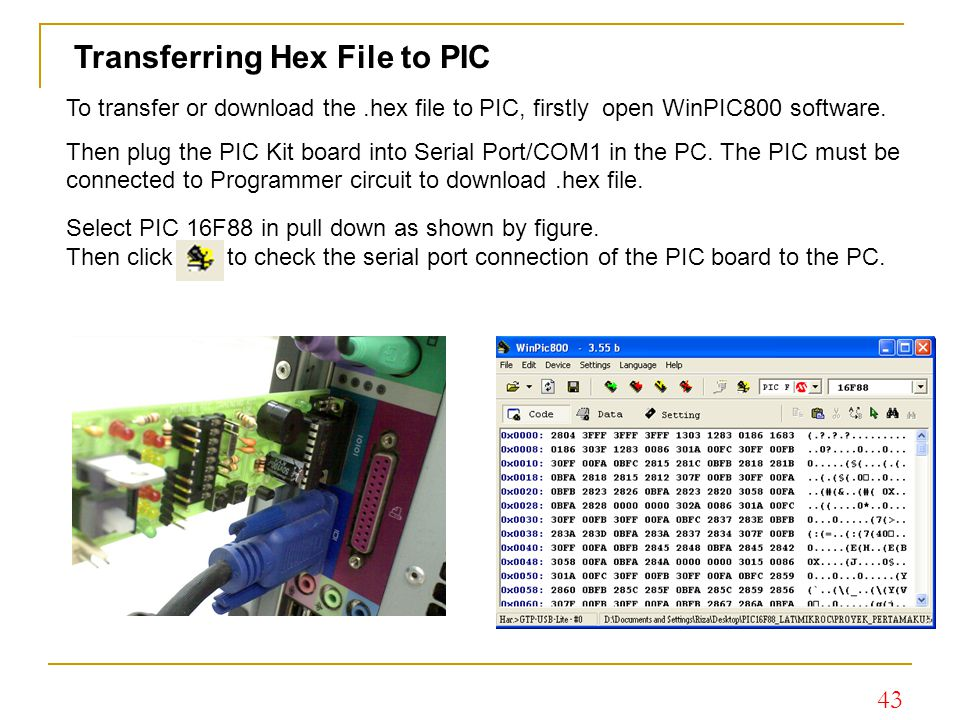 Transferring Hex File to PIC