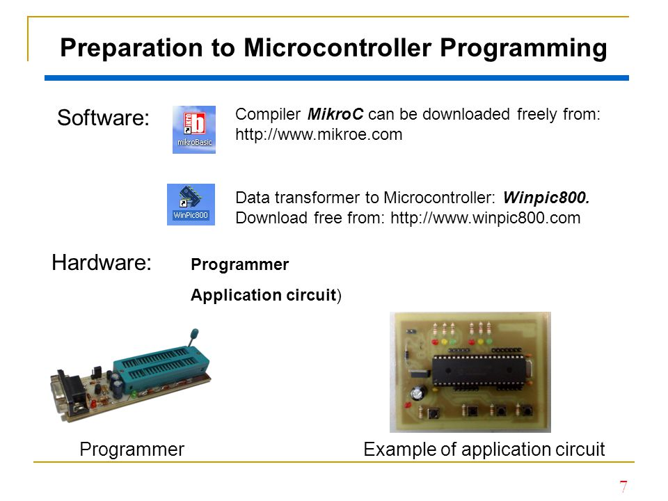 Preparation to Microcontroller Programming