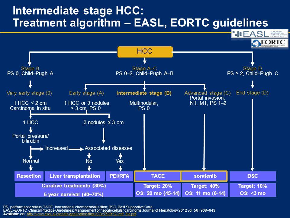 Intermediate stage HCC: Treatment algorithm – EASL, EORTC guidelines