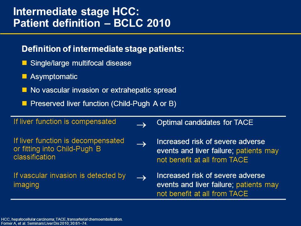 Intermediate stage HCC: Patient definition – BCLC 2010