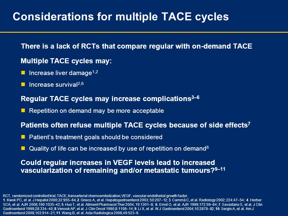 Considerations for multiple TACE cycles