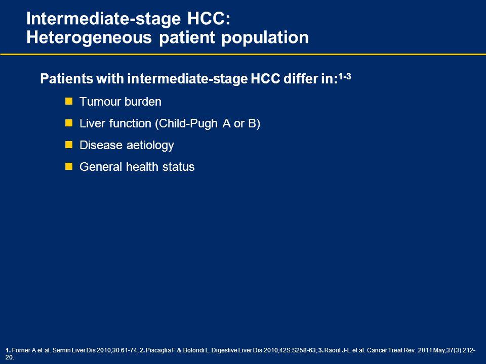 Intermediate-stage HCC: Heterogeneous patient population
