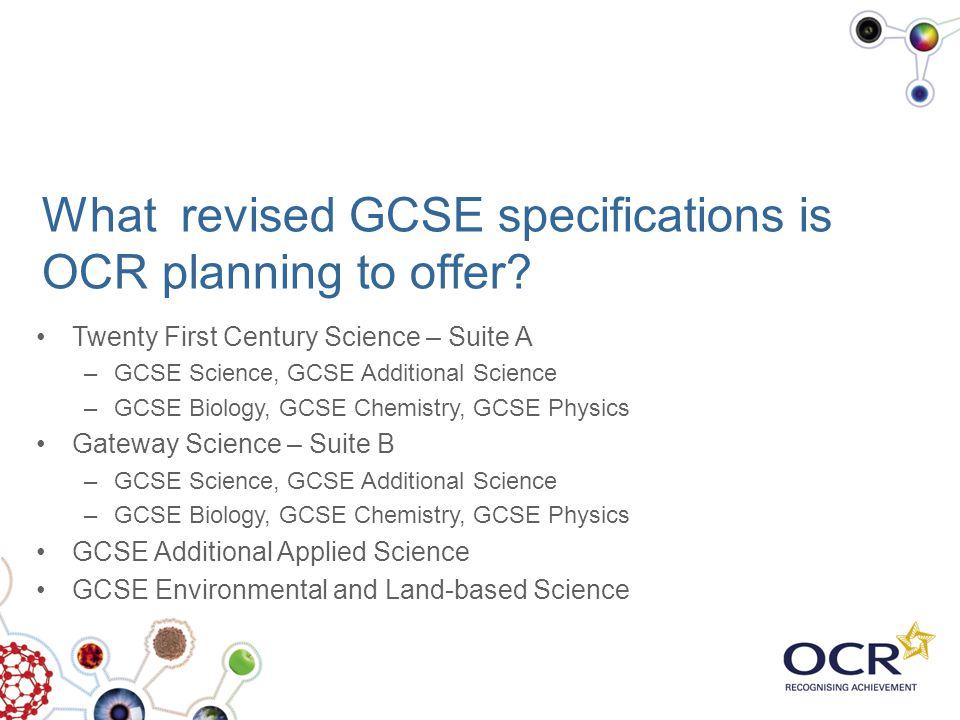 What revised GCSE specifications is OCR planning to offer