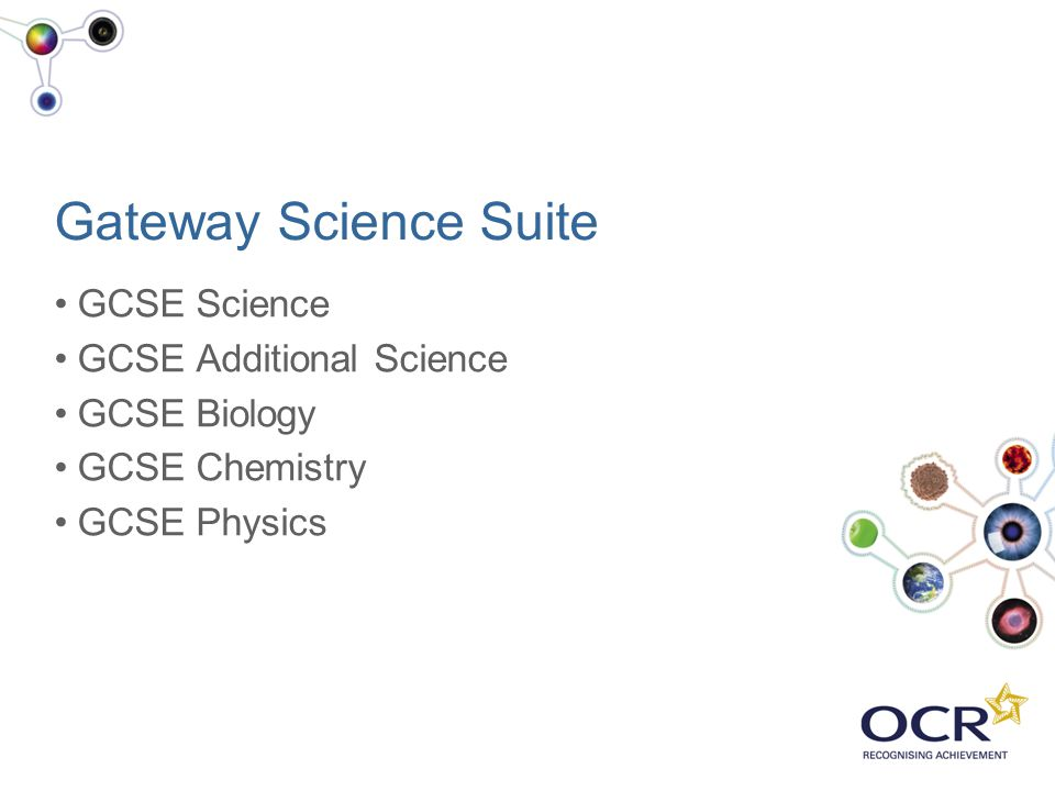 Gateway Science Suite GCSE Science GCSE Additional Science