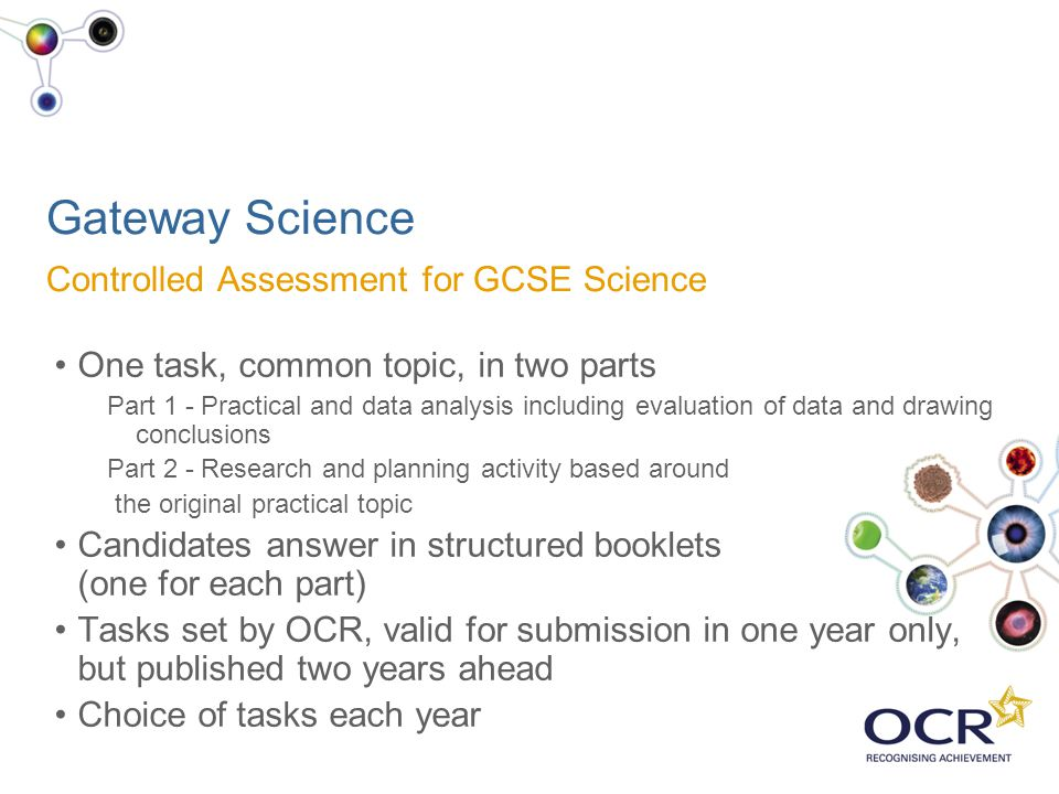 Gateway Science Controlled Assessment for GCSE Science