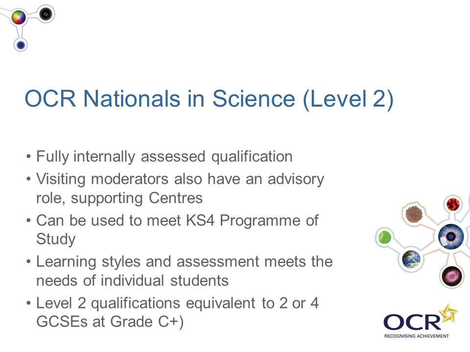OCR Nationals in Science (Level 2)