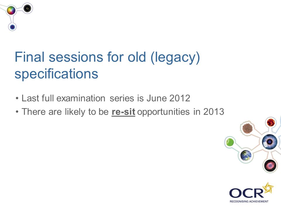 Final sessions for old (legacy) specifications