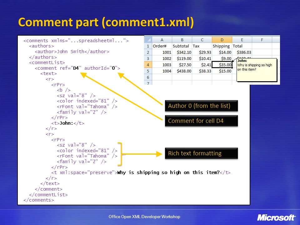 Comment part (comment1.xml)