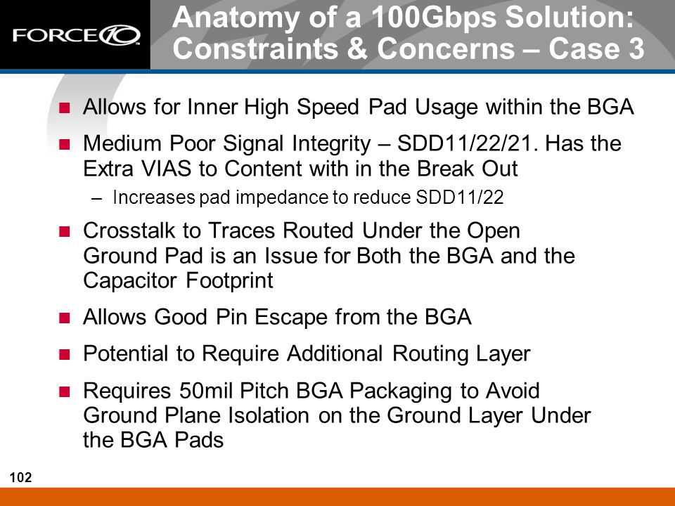 Anatomy of a 100Gbps Solution: Constraints & Concerns – Case 3