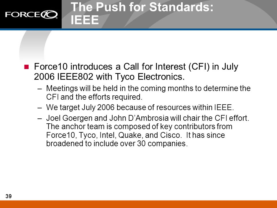 The Push for Standards: IEEE
