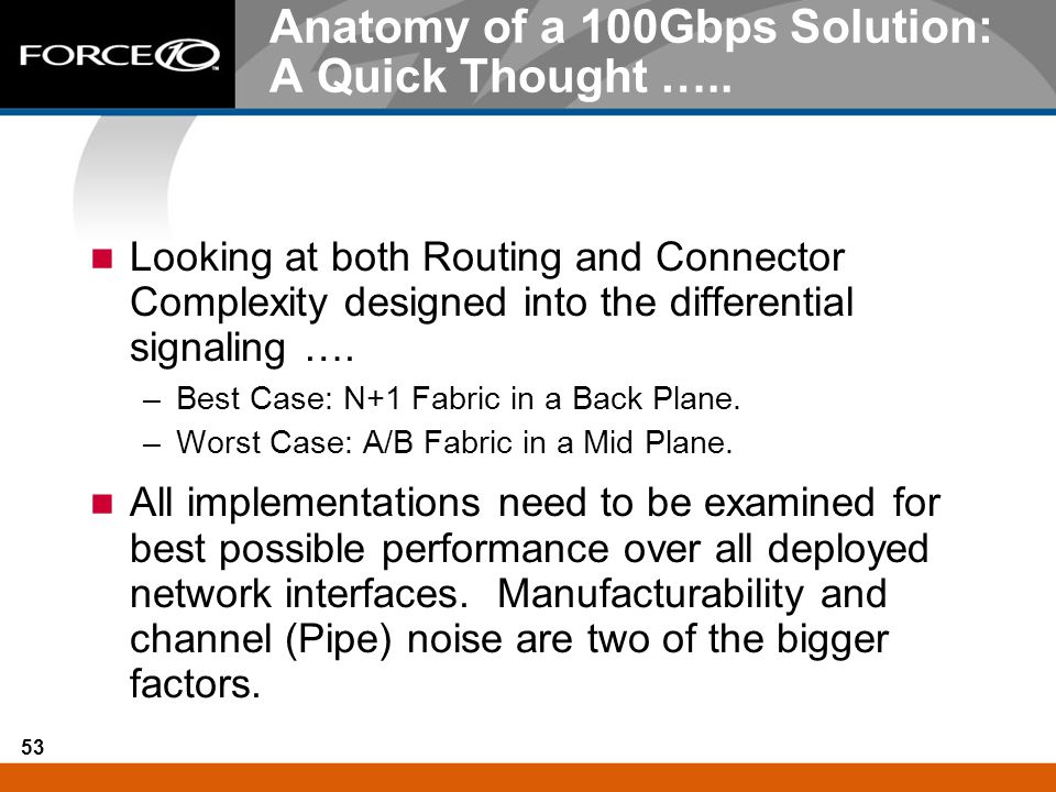 Anatomy of a 100Gbps Solution: A Quick Thought …..