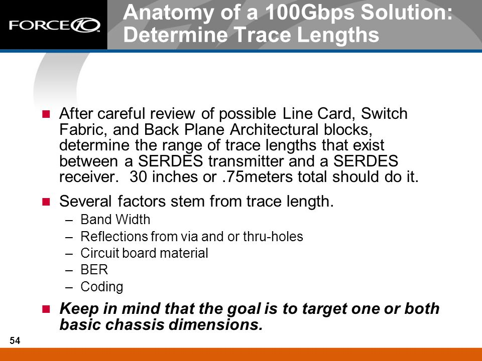 Anatomy of a 100Gbps Solution: Determine Trace Lengths