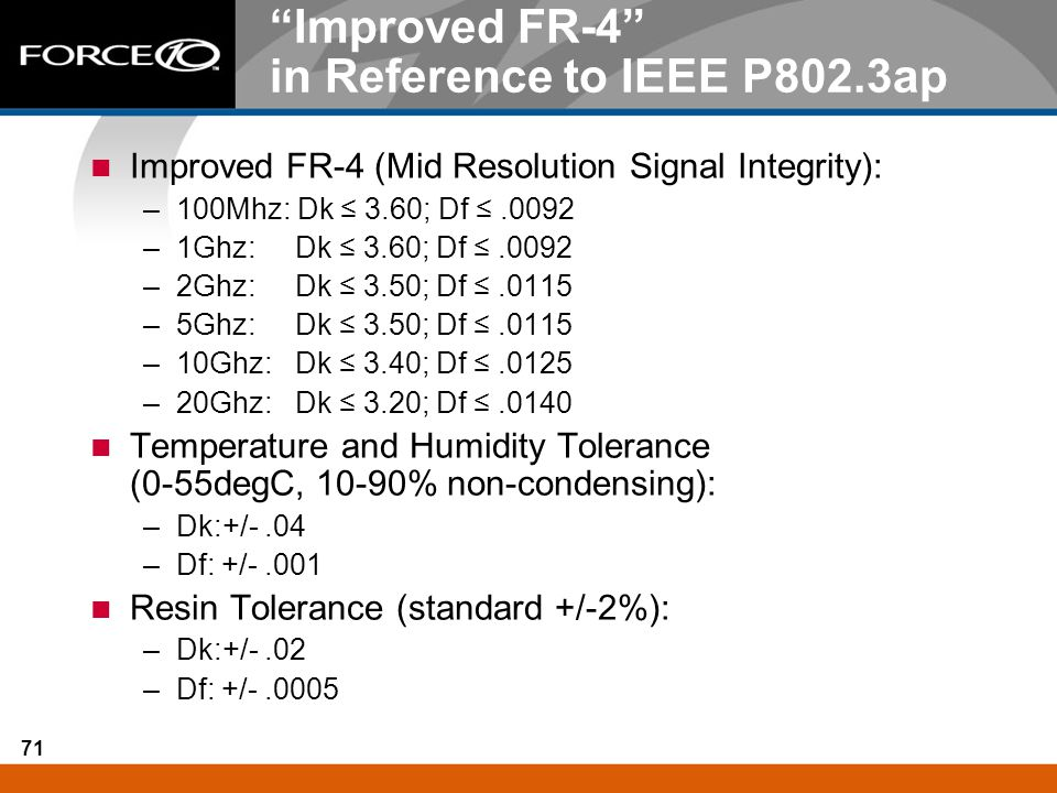Improved FR-4 in Reference to IEEE P802.3ap
