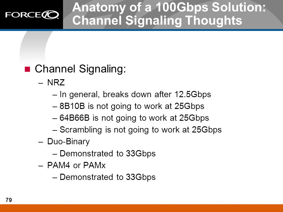 Anatomy of a 100Gbps Solution: Channel Signaling Thoughts