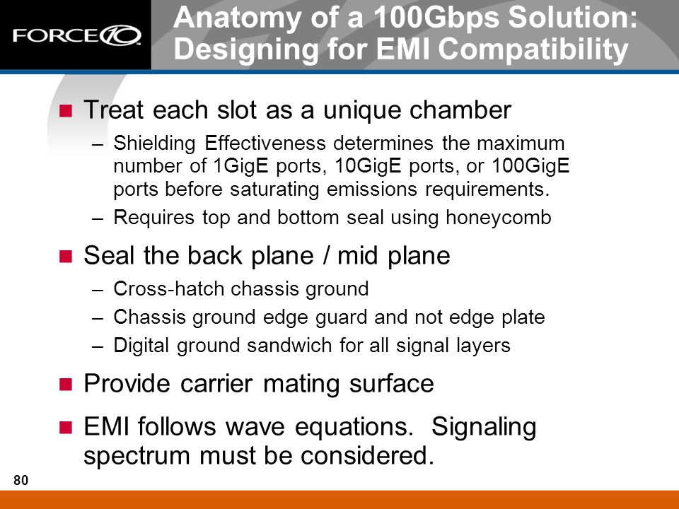 Anatomy of a 100Gbps Solution: Designing for EMI Compatibility