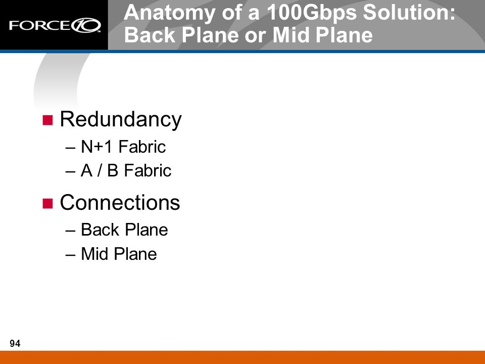 Anatomy of a 100Gbps Solution: Back Plane or Mid Plane