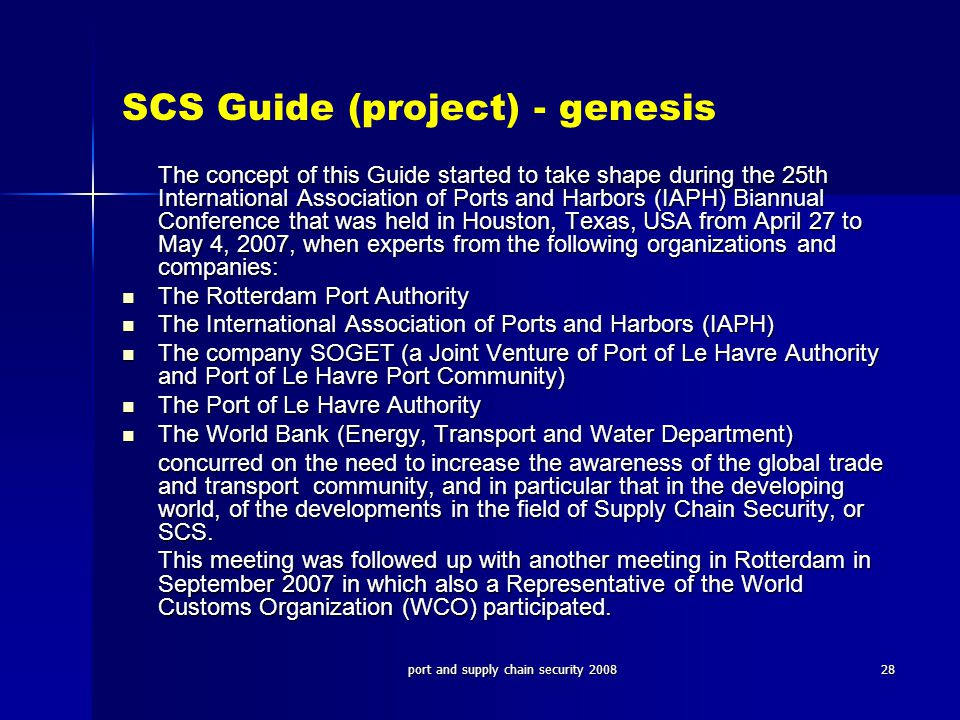 SCS Guide (project) - genesis