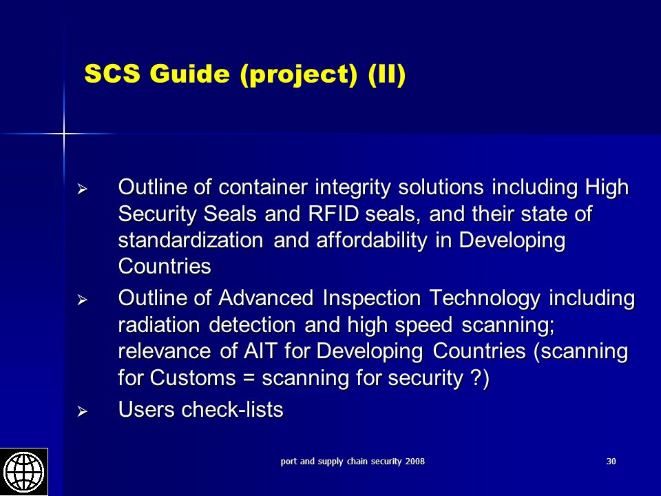 SCS Guide (project) (II)