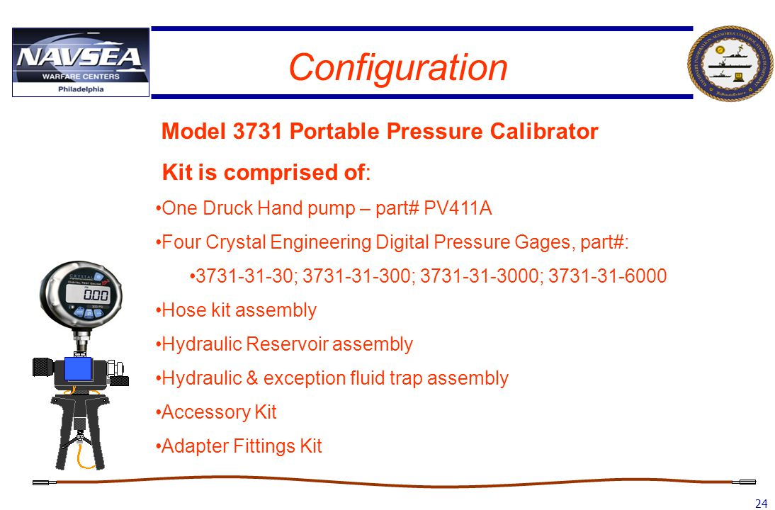 Configuration Model 3731 Portable Pressure Calibrator