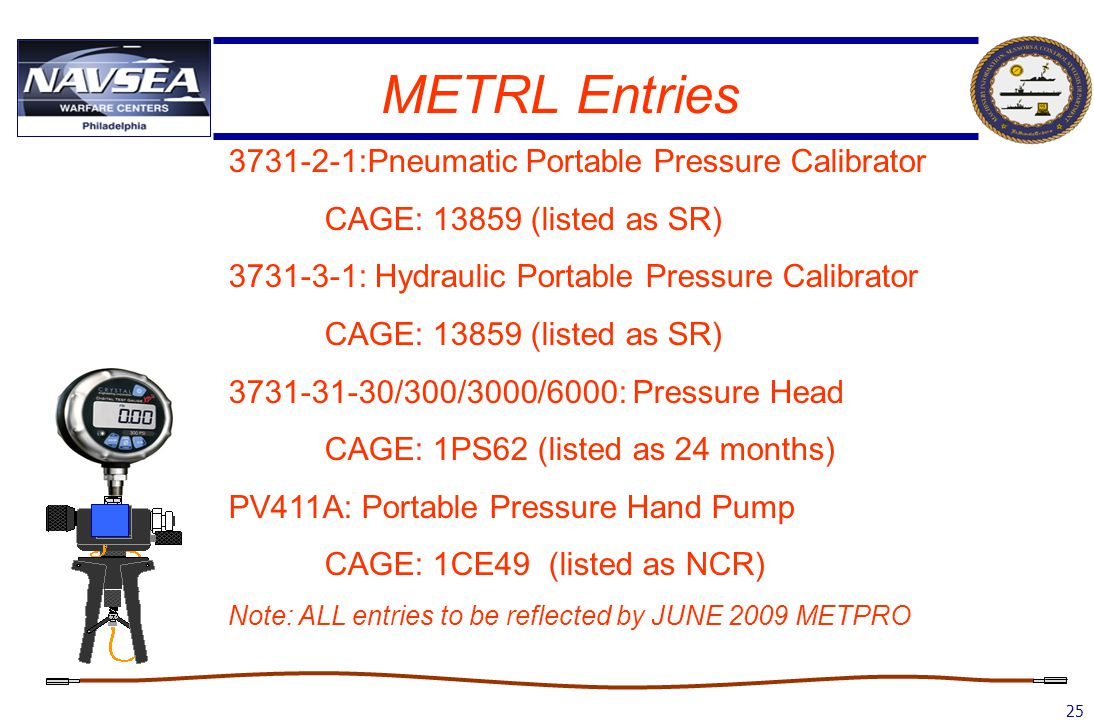 METRL Entries 3731-2-1:Pneumatic Portable Pressure Calibrator