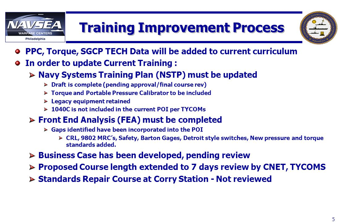 Training Improvement Process