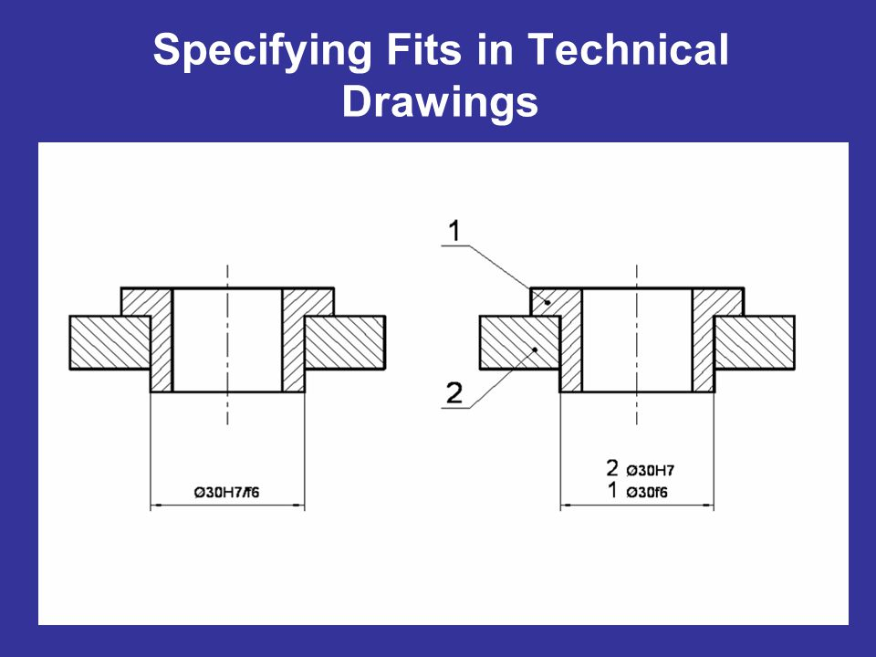 Specifying Fits in Technical Drawings