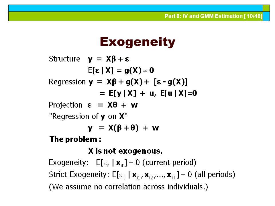 Exogeneity