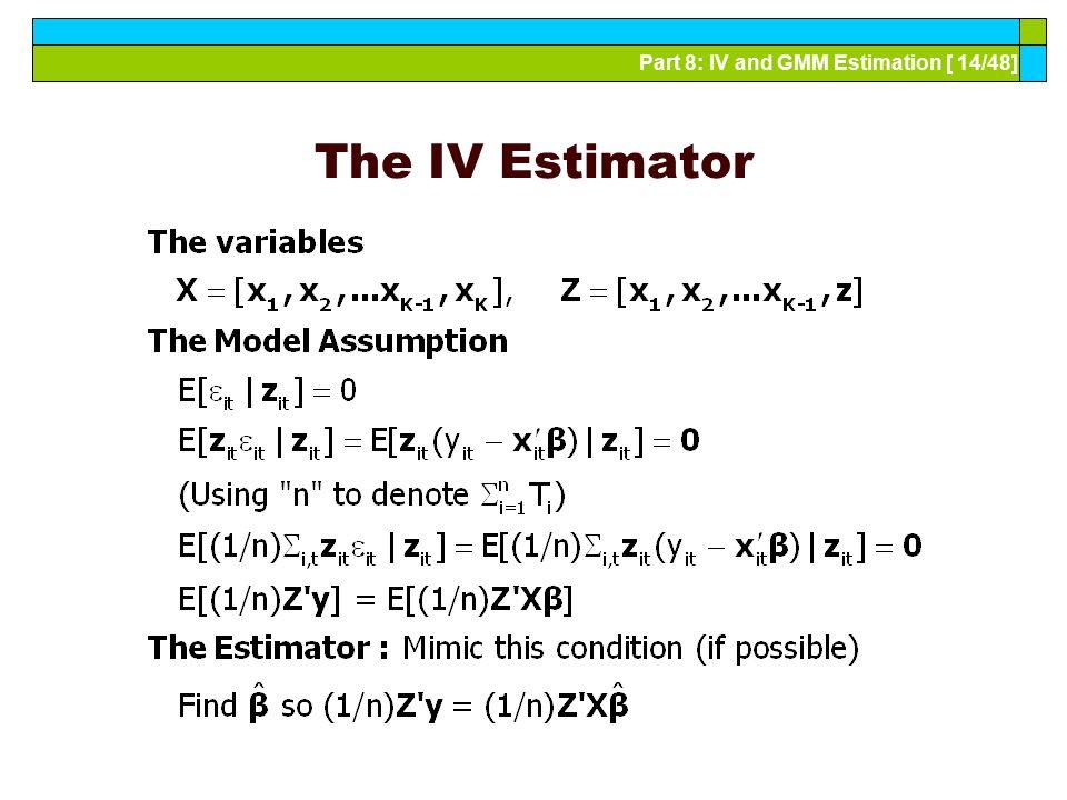 The IV Estimator