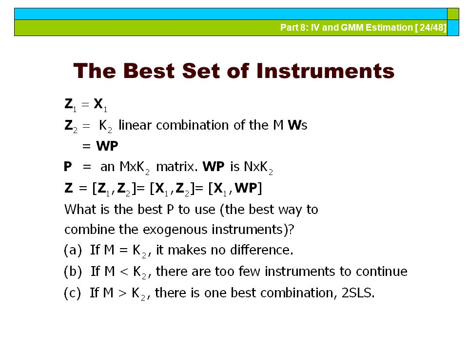 The Best Set of Instruments