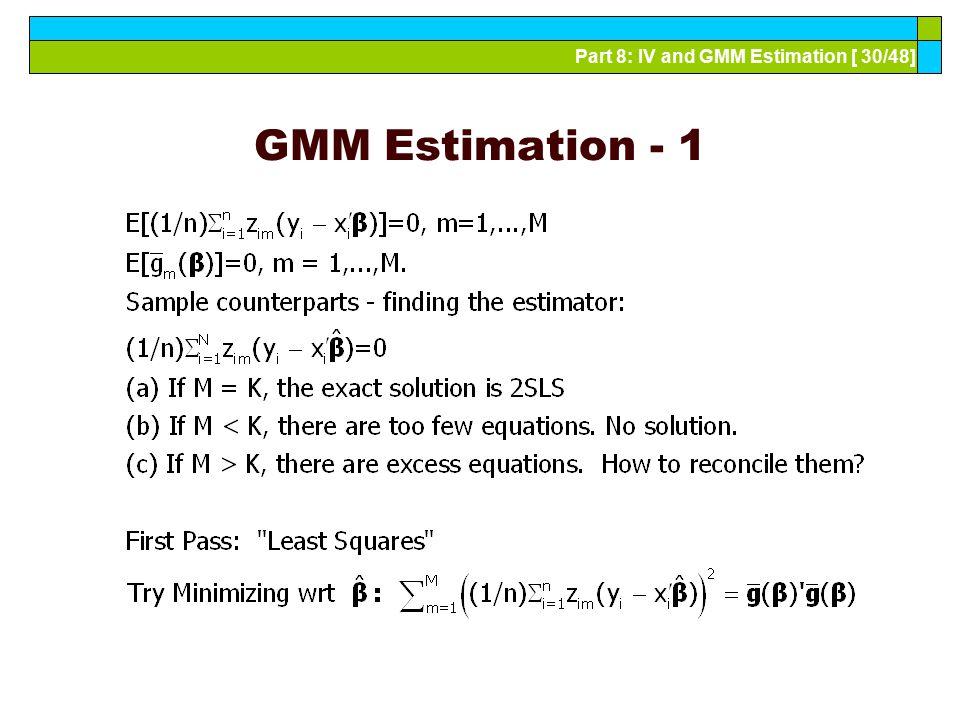 GMM Estimation - 1