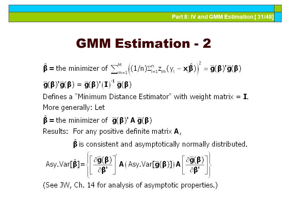 GMM Estimation - 2