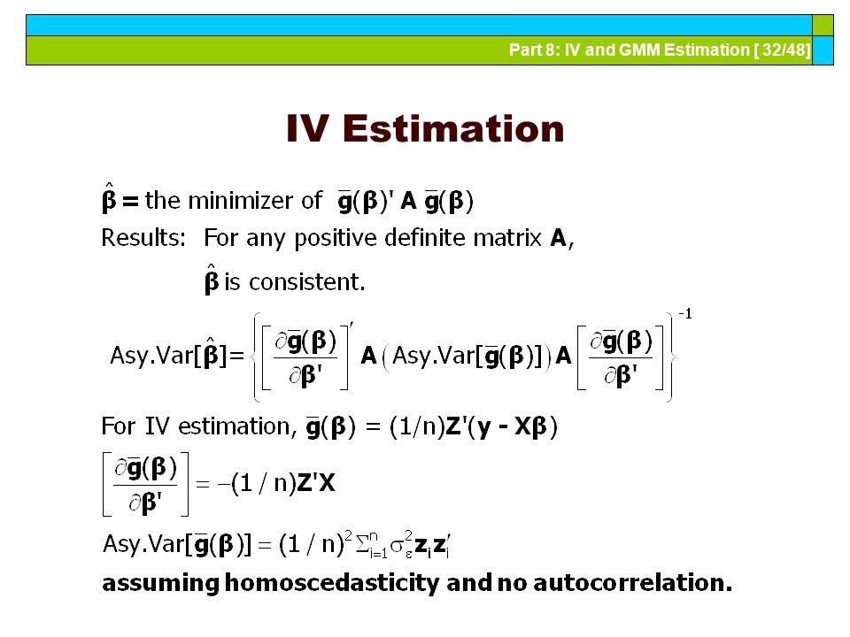 IV Estimation