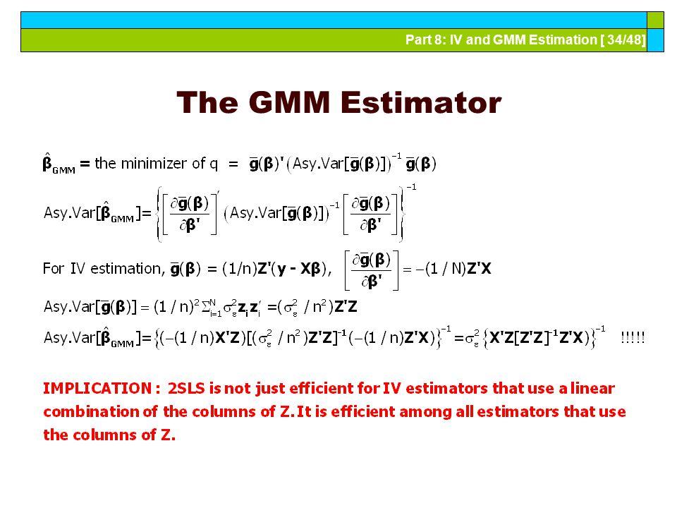 The GMM Estimator