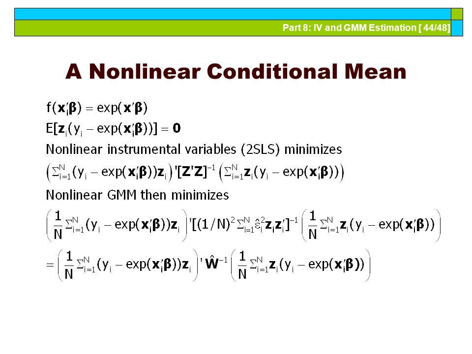 A Nonlinear Conditional Mean