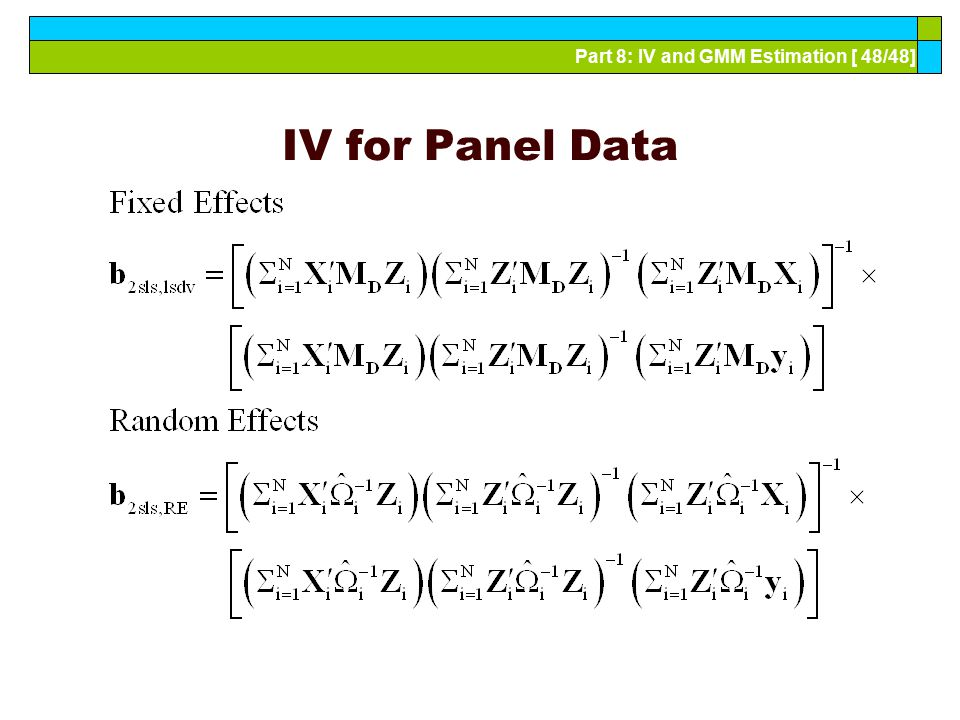 IV for Panel Data