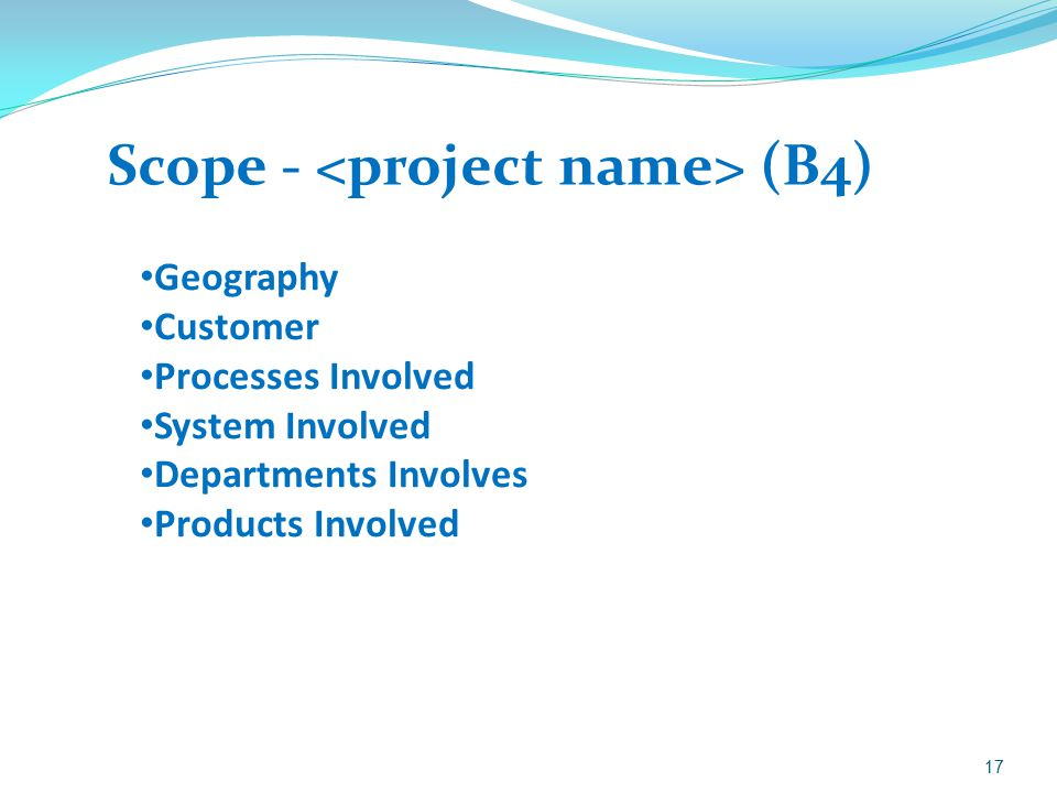 Scope - <project name> (B4)