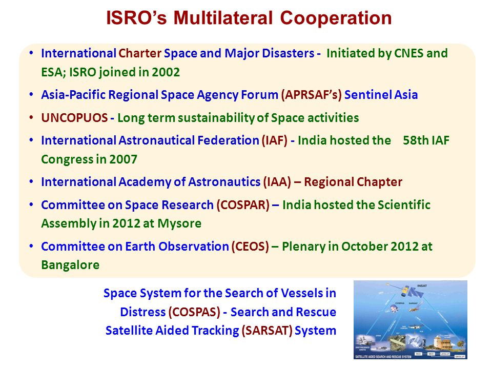 ISRO's Multilateral Cooperation