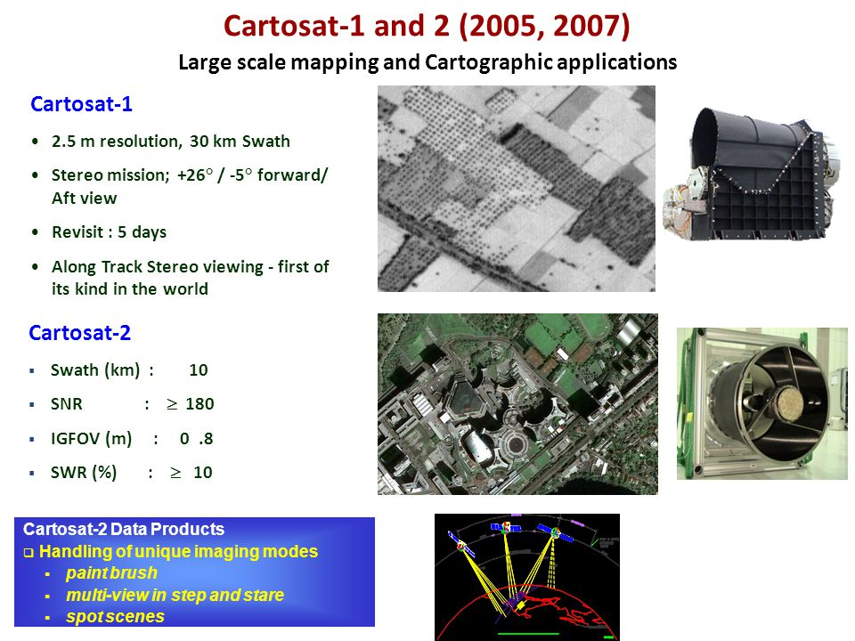 Large scale mapping and Cartographic applications