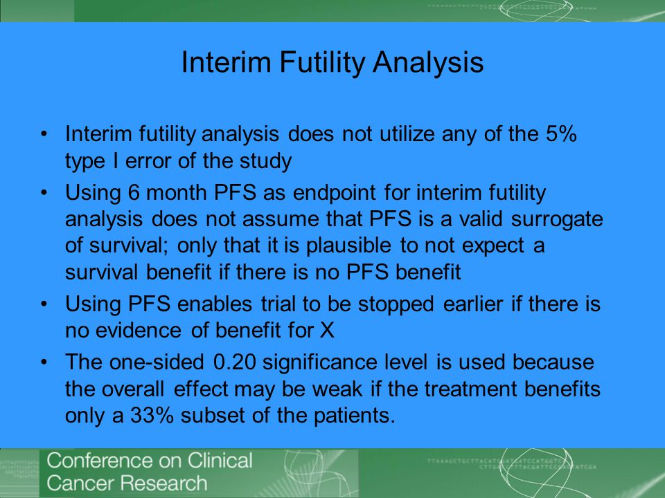 Interim Futility Analysis