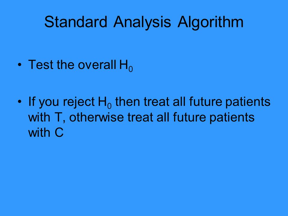Standard Analysis Algorithm
