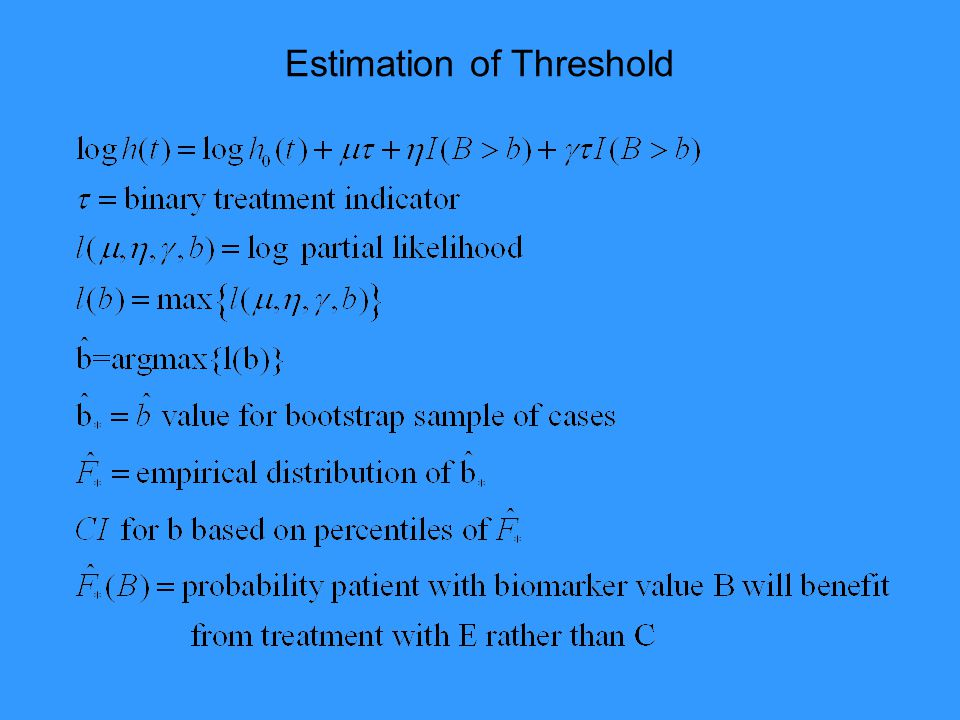 Estimation of Threshold
