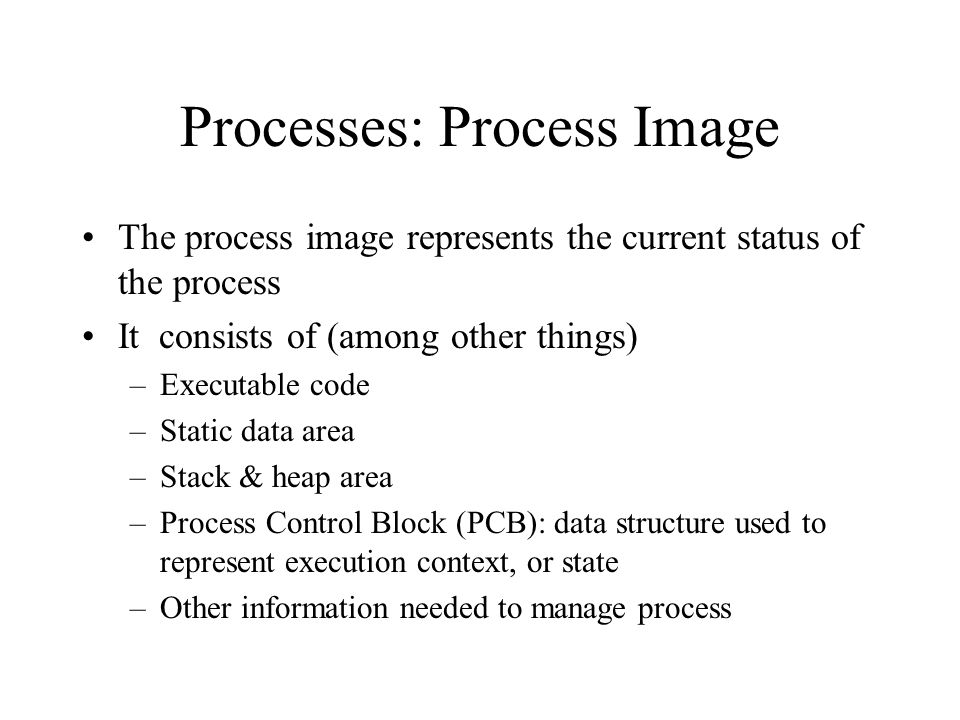 Processes: Process Image