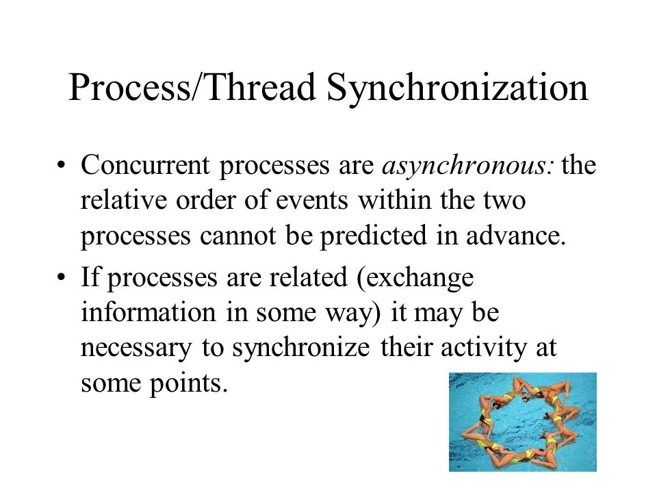 Process/Thread Synchronization